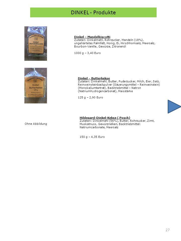 DINKEL - Produkte Dinkel – Mandelbiscotti