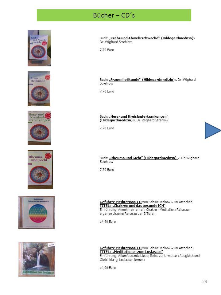 """Bücher – CD´s Buch: """"Krebs und Abwehrschwäche (Hildegardmedizin)v. Dr. Wighard Strehlow. 7,70 Euro."""