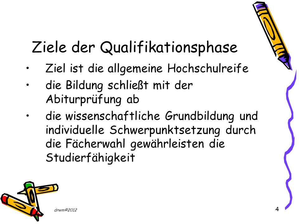 Ziele der Qualifikationsphase