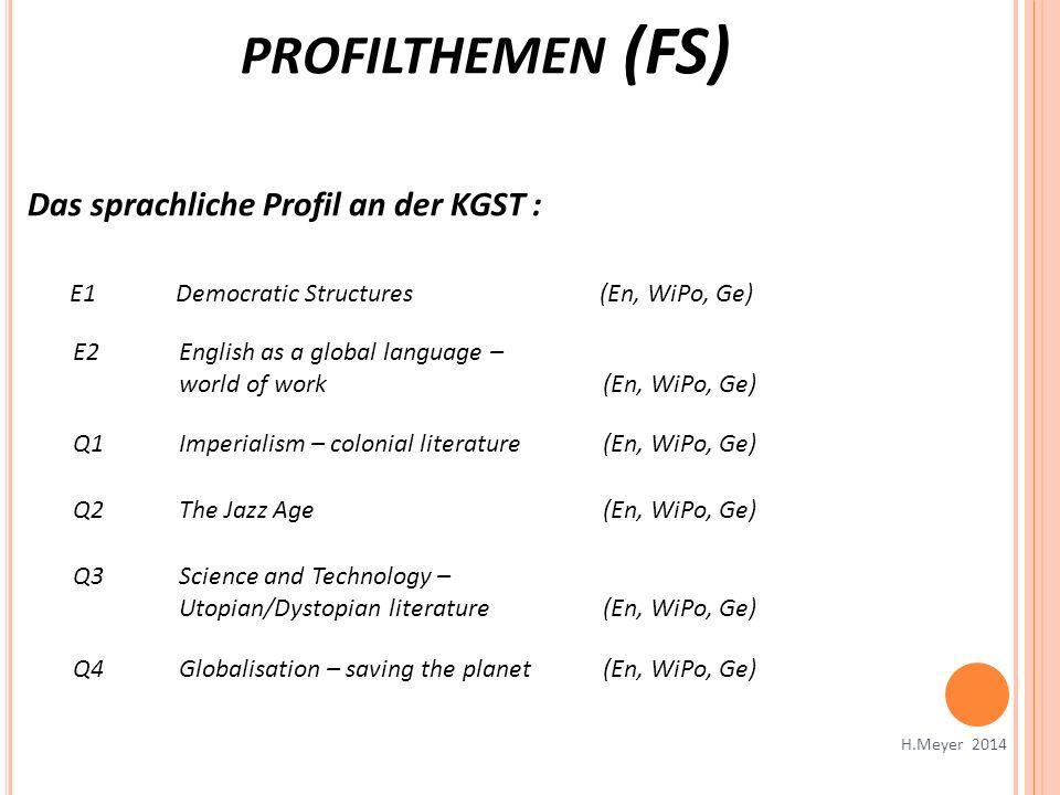 profilthemen (FS) Das sprachliche Profil an der KGST :