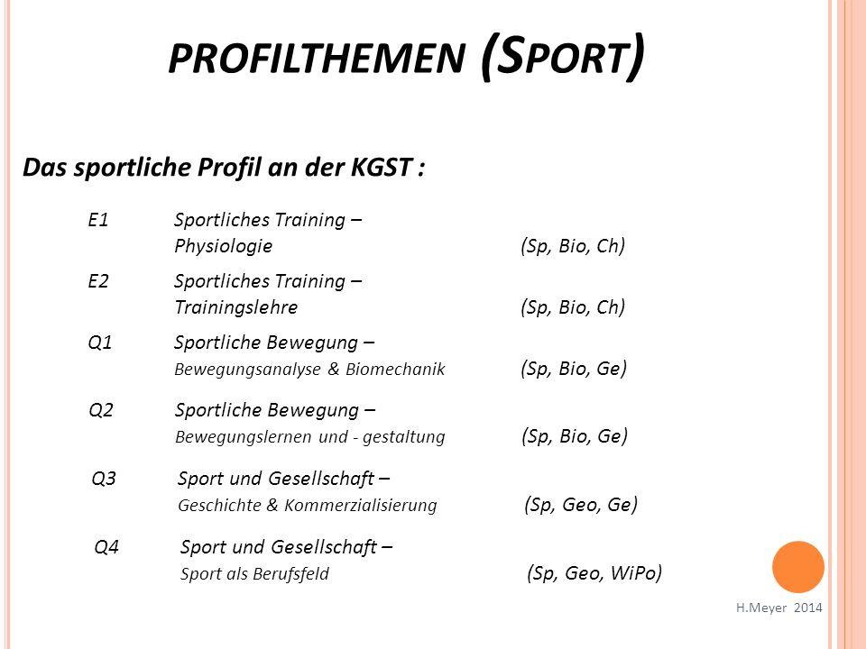 profilthemen (Sport) Das sportliche Profil an der KGST :