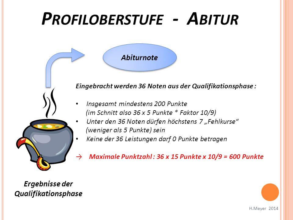 Profiloberstufe - Abitur