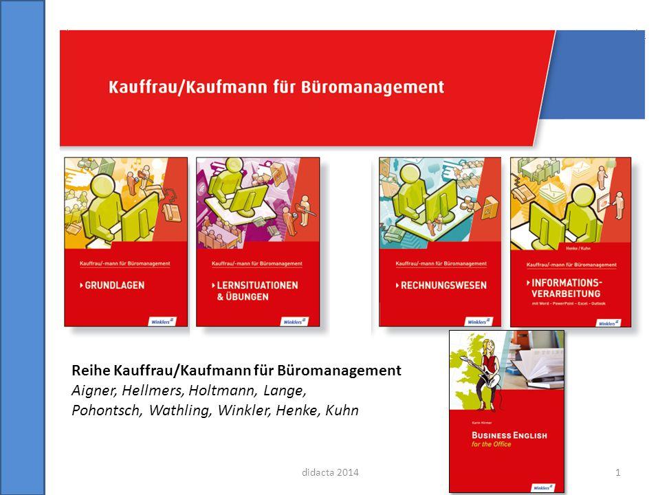 Reihe Kauffrau/Kaufmann für Büromanagement