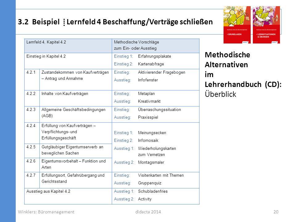 3.2 Beispiel ⁞ Lernfeld 4 Beschaffung/Verträge schließen