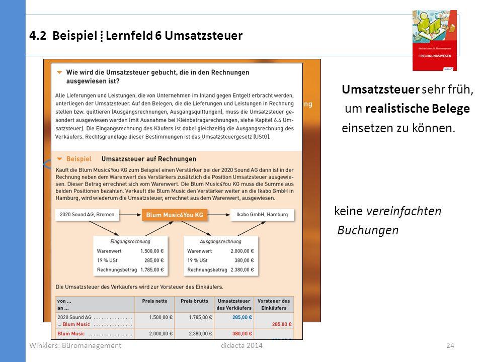 4.2 Beispiel ⁞ Lernfeld 6 Umsatzsteuer
