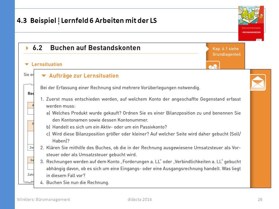 4.3 Beispiel ⁞ Lernfeld 6 Arbeiten mit der LS