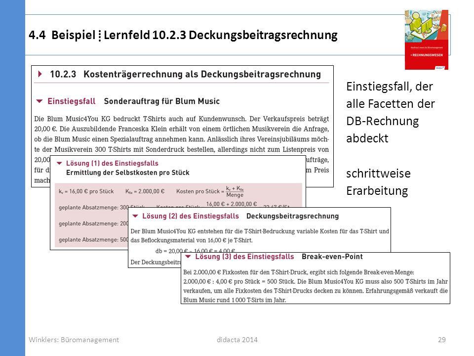 4.4 Beispiel ⁞ Lernfeld 10.2.3 Deckungsbeitragsrechnung