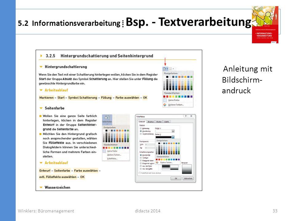 5.2 Informationsverarbeitung ⁞ Bsp. - Textverarbeitung