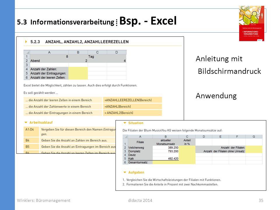 5.3 Informationsverarbeitung ⁞ Bsp. - Excel