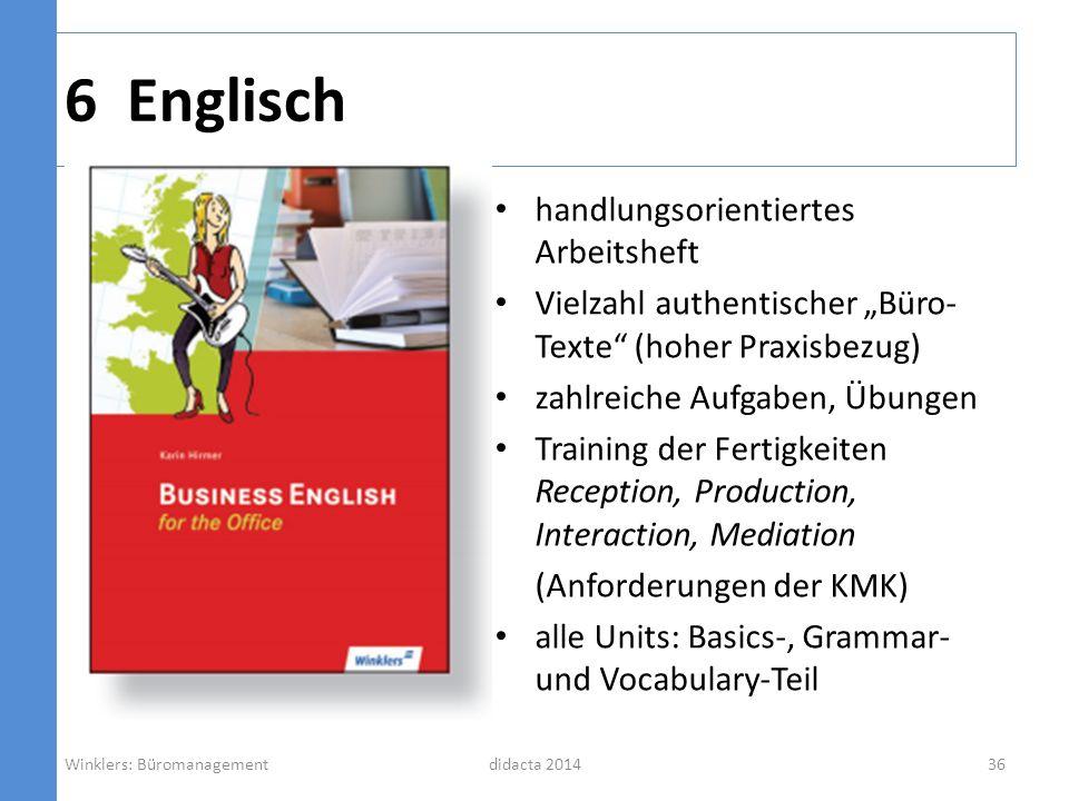 6 Englisch handlungsorientiertes Arbeitsheft