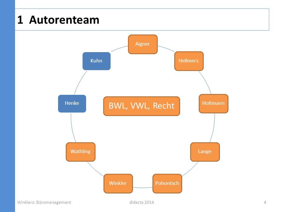 1 Autorenteam BWL, VWL, Recht Aigner Hellmers Holtmann Lange Pohontsch