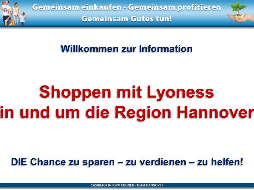 Shoppen mit Lyoness in und um die Region Hannover