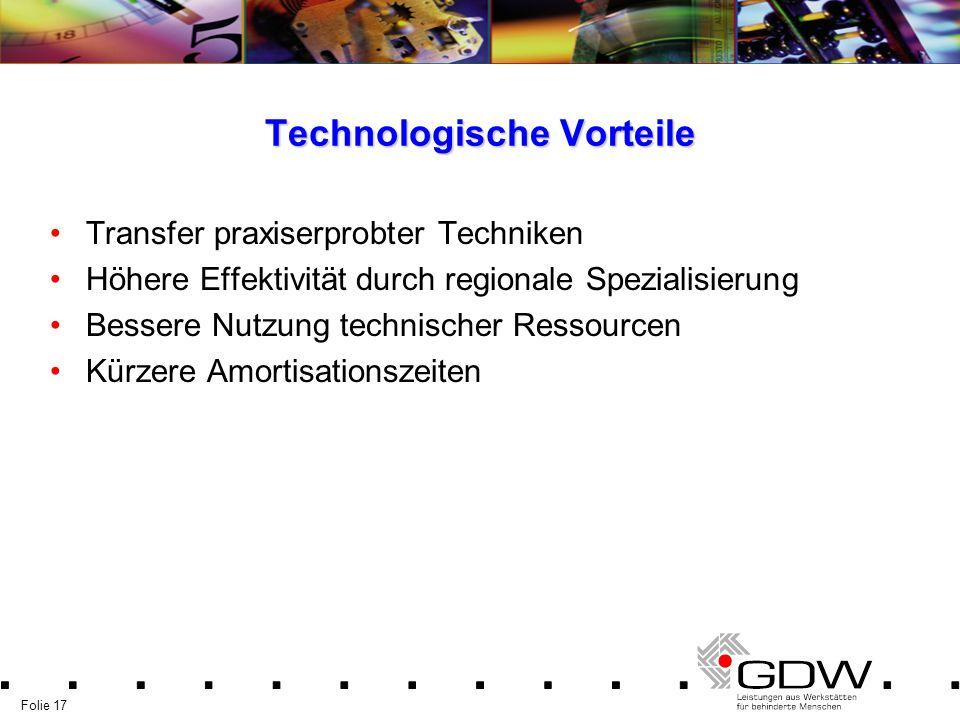 Technologische Vorteile