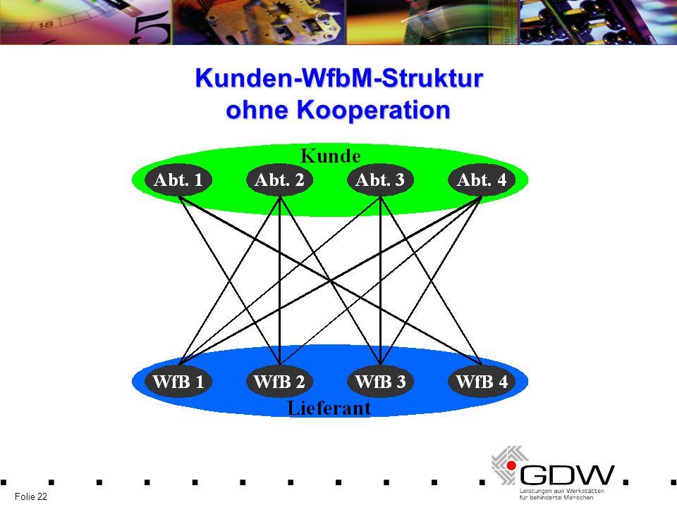 Kunden-WfbM-Struktur ohne Kooperation