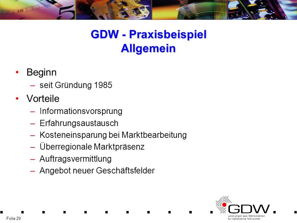 GDW - Praxisbeispiel Allgemein