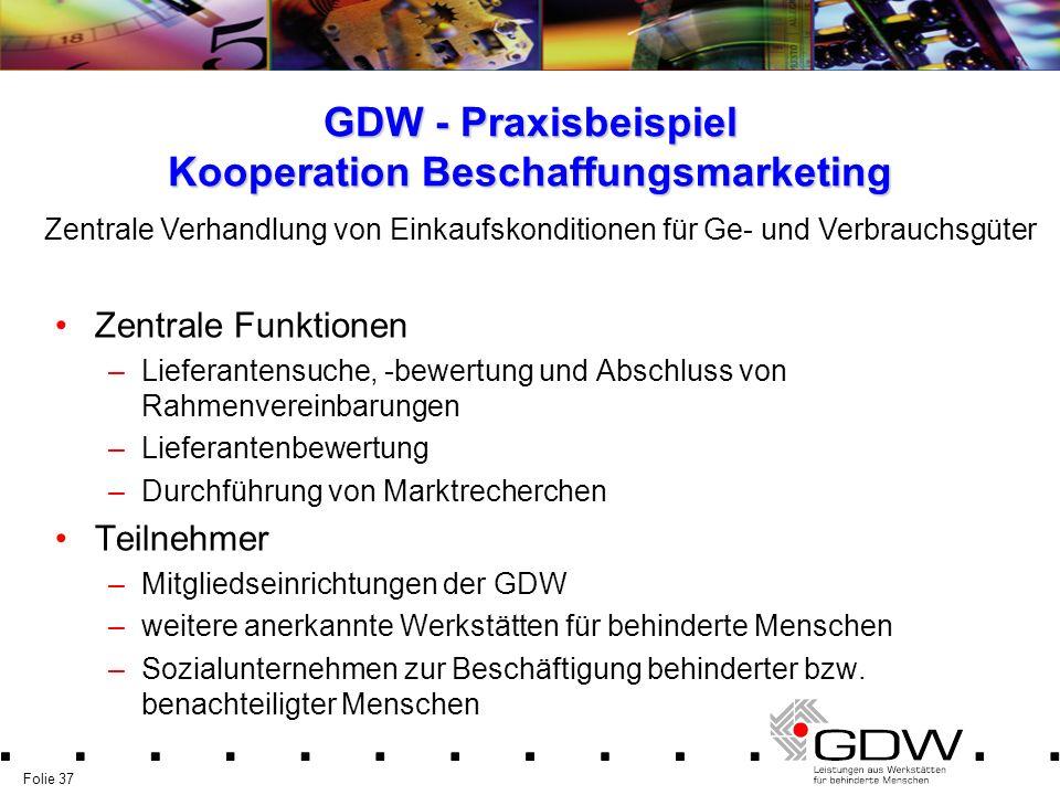 GDW - Praxisbeispiel Kooperation Beschaffungsmarketing