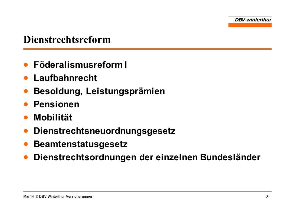 Dienstrechtsreform Föderalismusreform I Laufbahnrecht