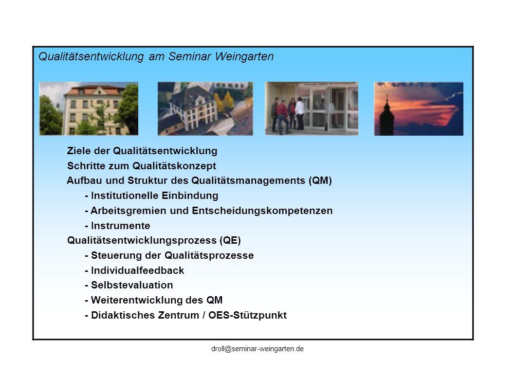 Qualitätsentwicklung am Seminar Weingarten