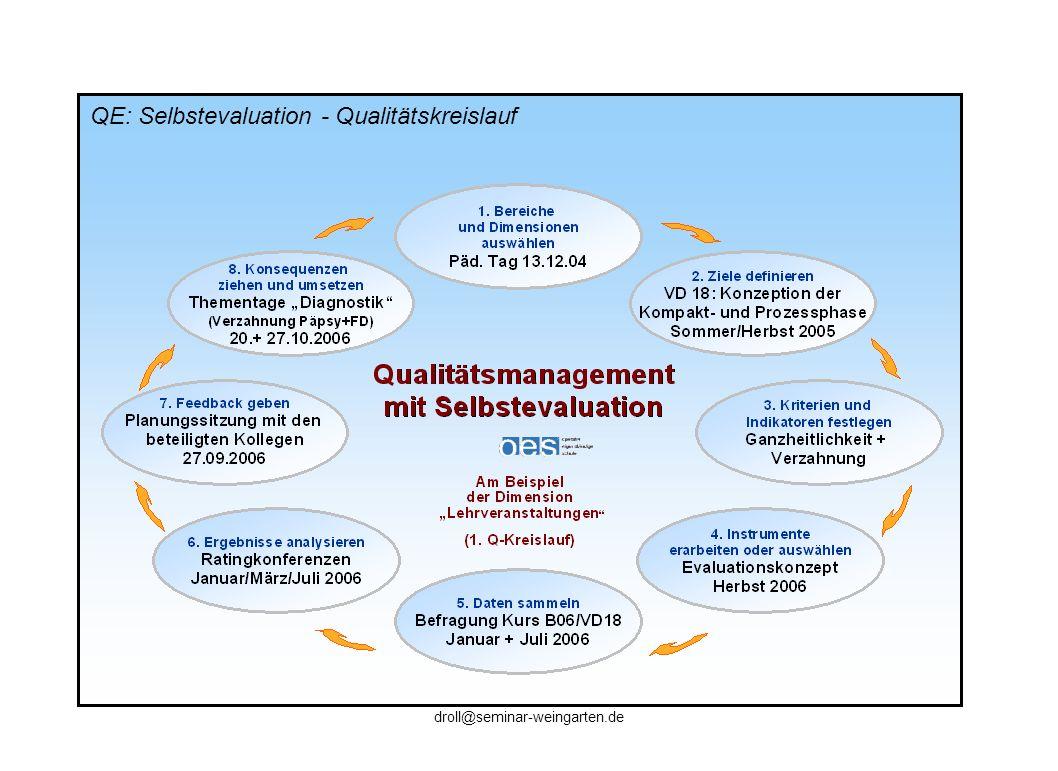 QE: Selbstevaluation - Qualitätskreislauf