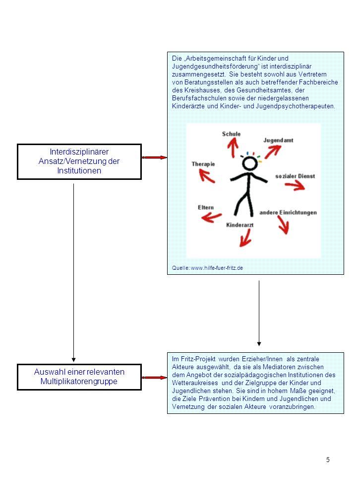 Interdisziplinärer Ansatz/Vernetzung der Institutionen