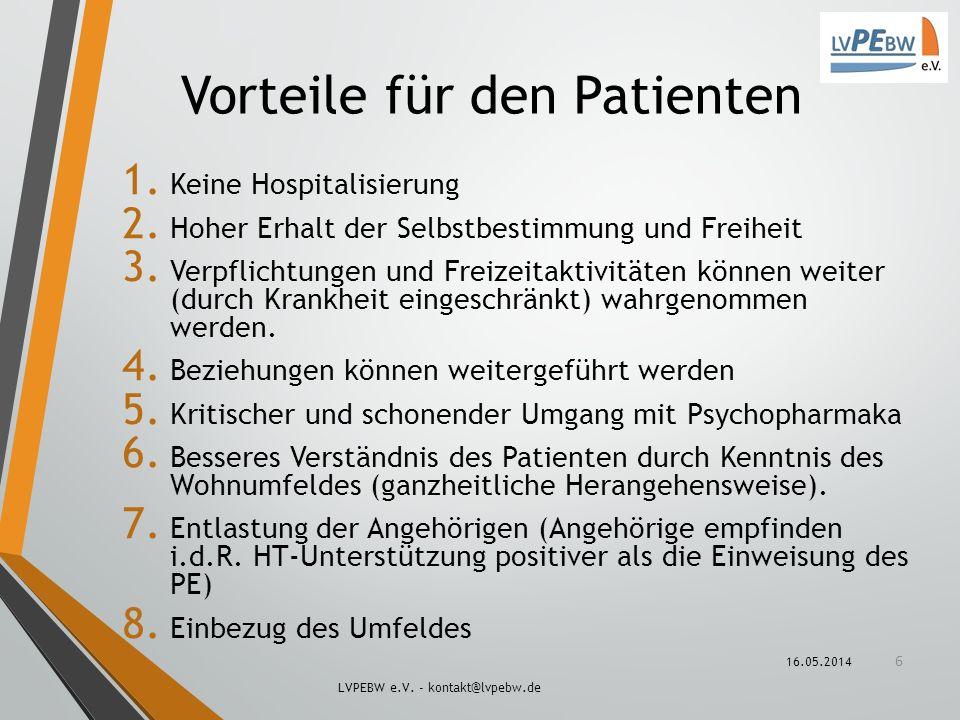 Vorteile für den Patienten