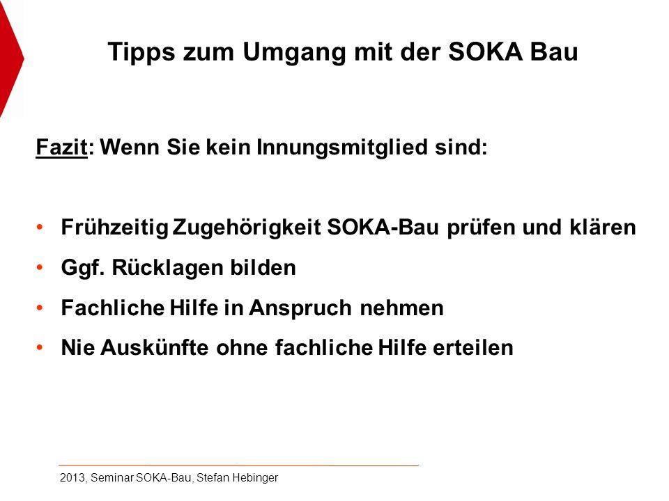 2013, Seminar SOKA-Bau, Stefan Hebinger