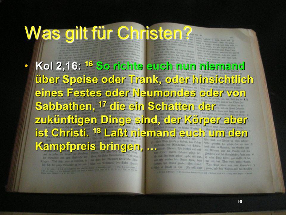 Was gilt für Christen