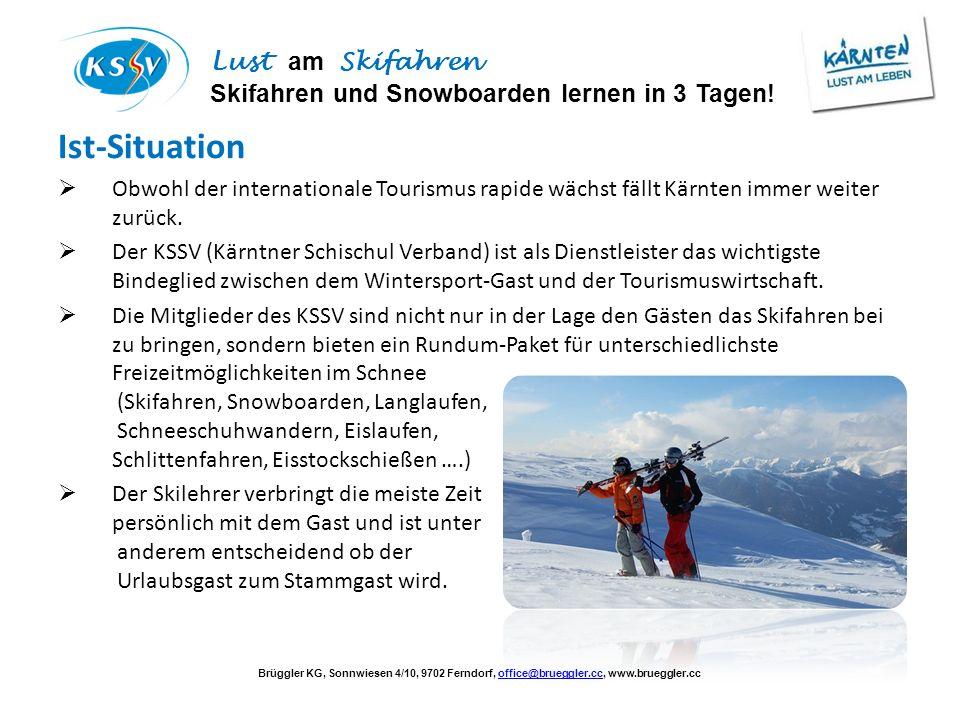 Ist-Situation Obwohl der internationale Tourismus rapide wächst fällt Kärnten immer weiter zurück.