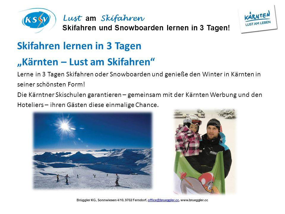 """Skifahren lernen in 3 Tagen """"Kärnten – Lust am Skifahren"""