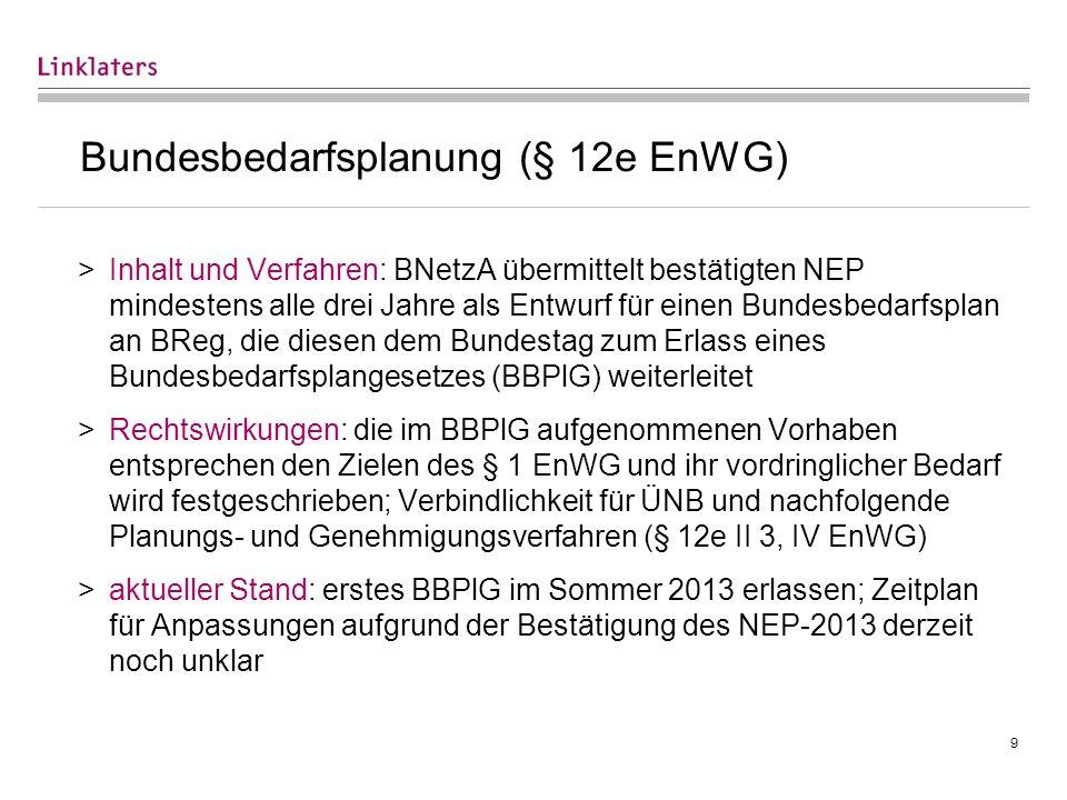 Bundesfachplanung (§ 4 ff. NABEG) (I)
