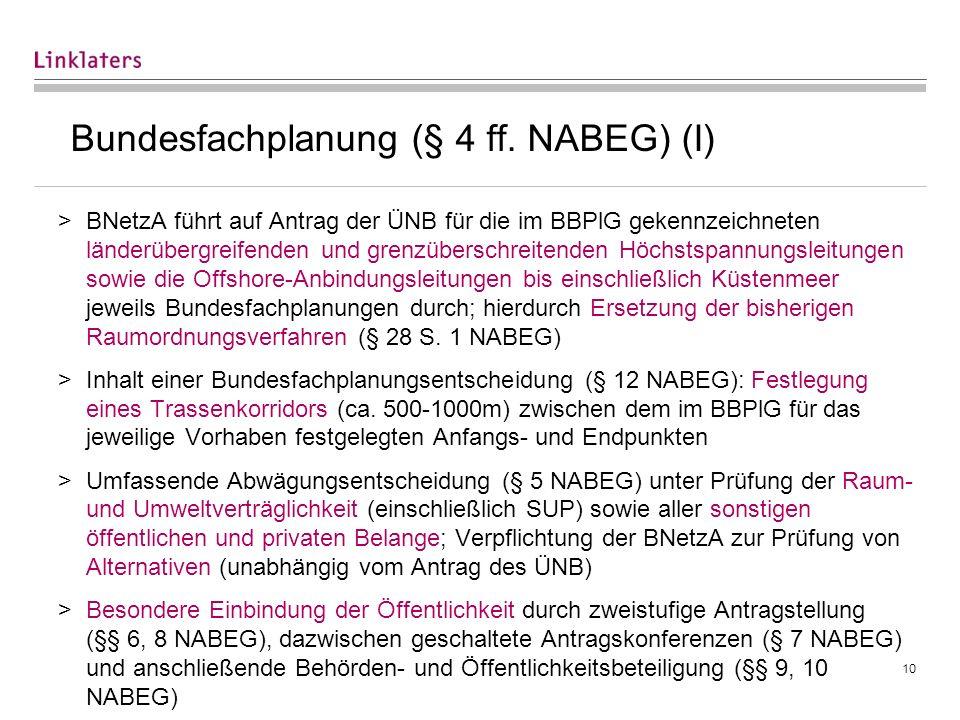 Bundesfachplanung (§ 4 ff. NABEG) (II)