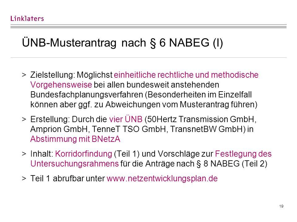 ÜNB-Musterantrag nach § 6 NABEG (II)
