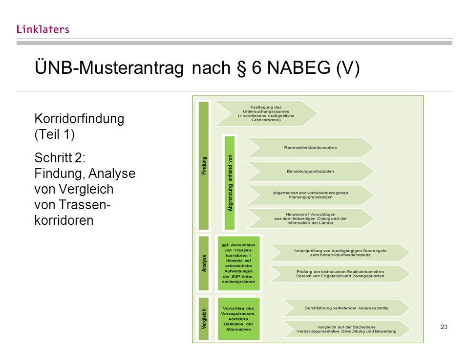 ÜNB-Musterantrag nach § 6 NABEG (VI)