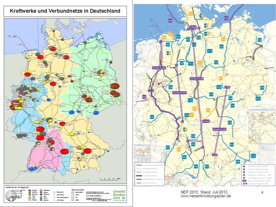 Umfang des notwendigen Stromnetzausbaus