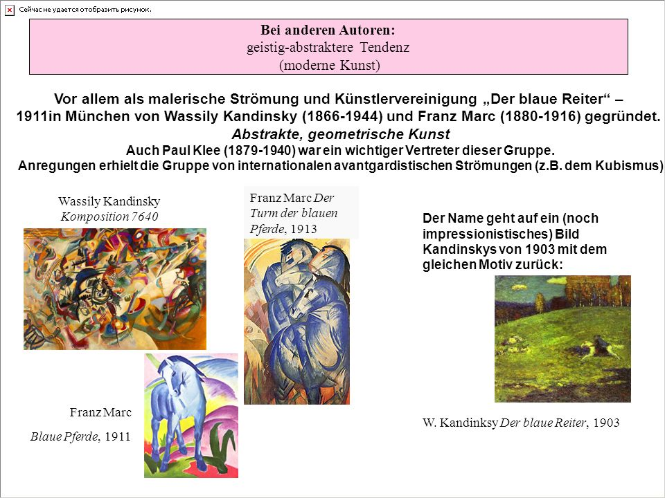 geistig-abstraktere Tendenz (moderne Kunst)