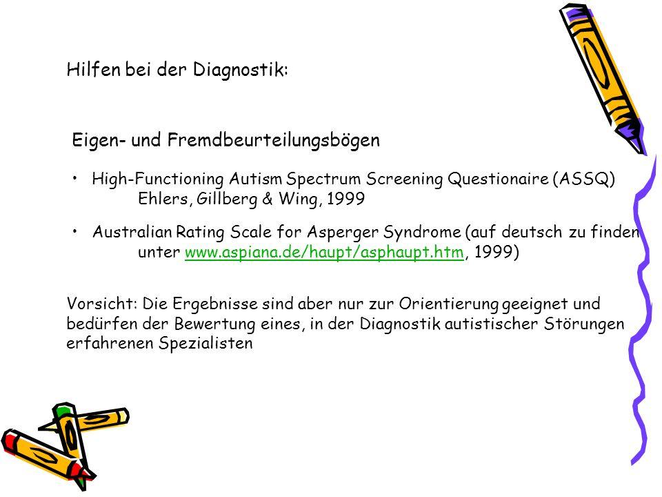 Hilfen bei der Diagnostik:
