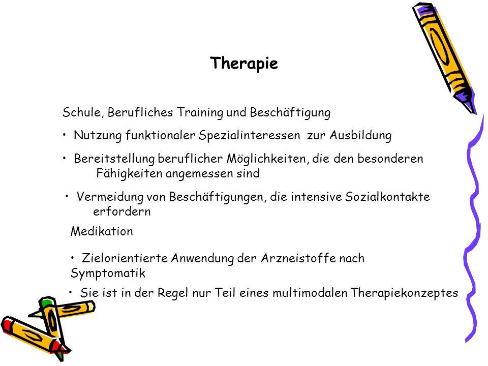 Therapie Schule, Berufliches Training und Beschäftigung