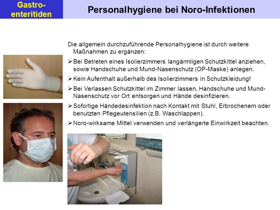 Personalhygiene bei Noro-Infektionen