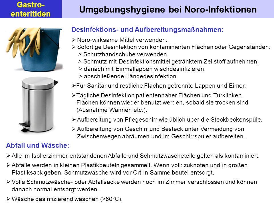 Umgebungshygiene bei Noro-Infektionen
