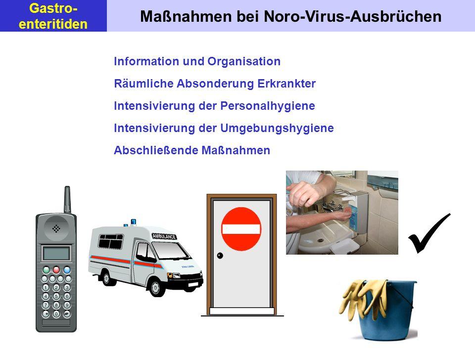 Maßnahmen bei Noro-Virus-Ausbrüchen