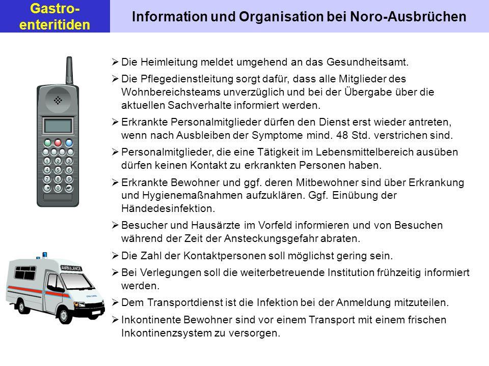 Information und Organisation bei Noro-Ausbrüchen