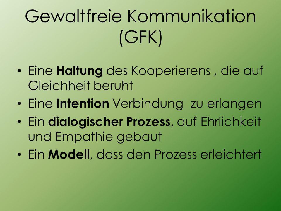 Gewaltfreie Kommunikation (GFK)
