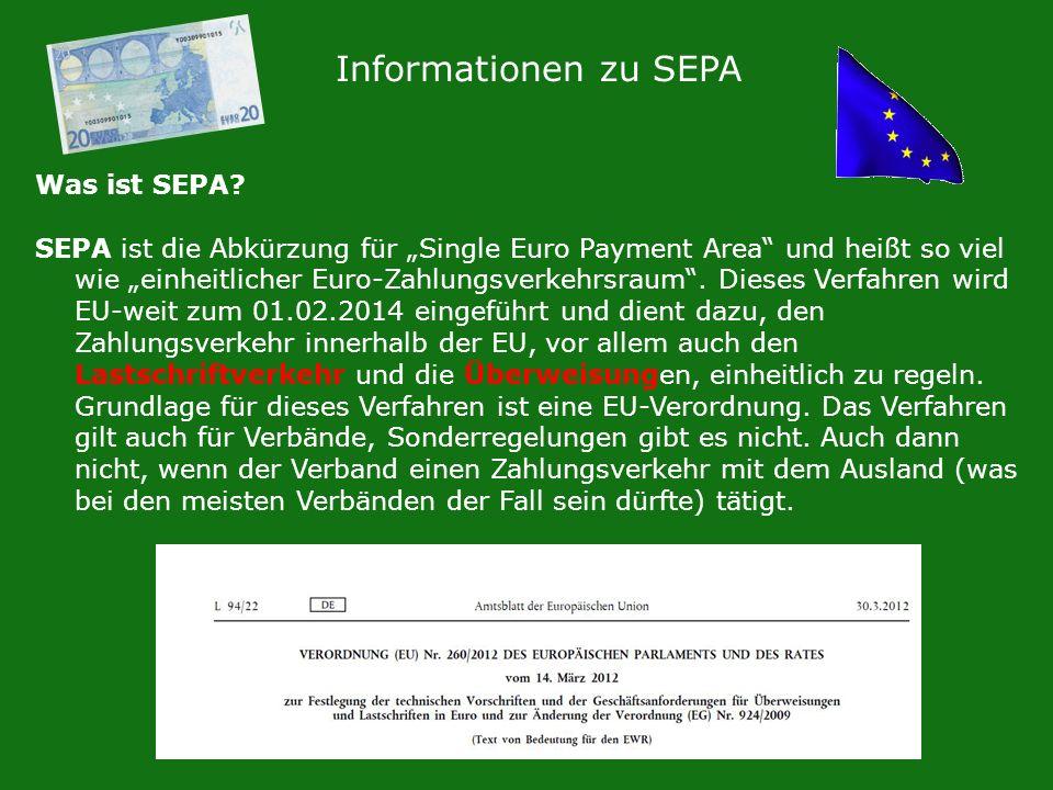Informationen zu SEPA Was ist SEPA