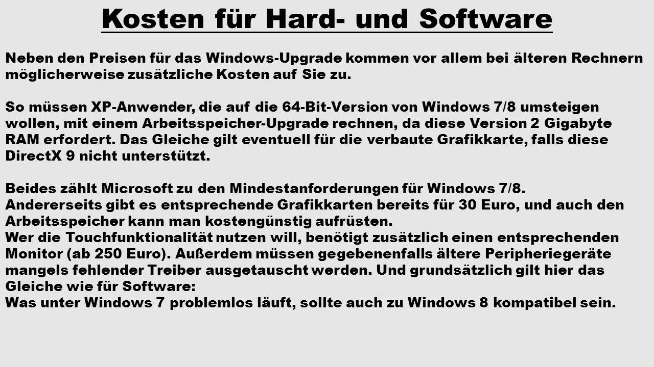 Kosten für Hard- und Software
