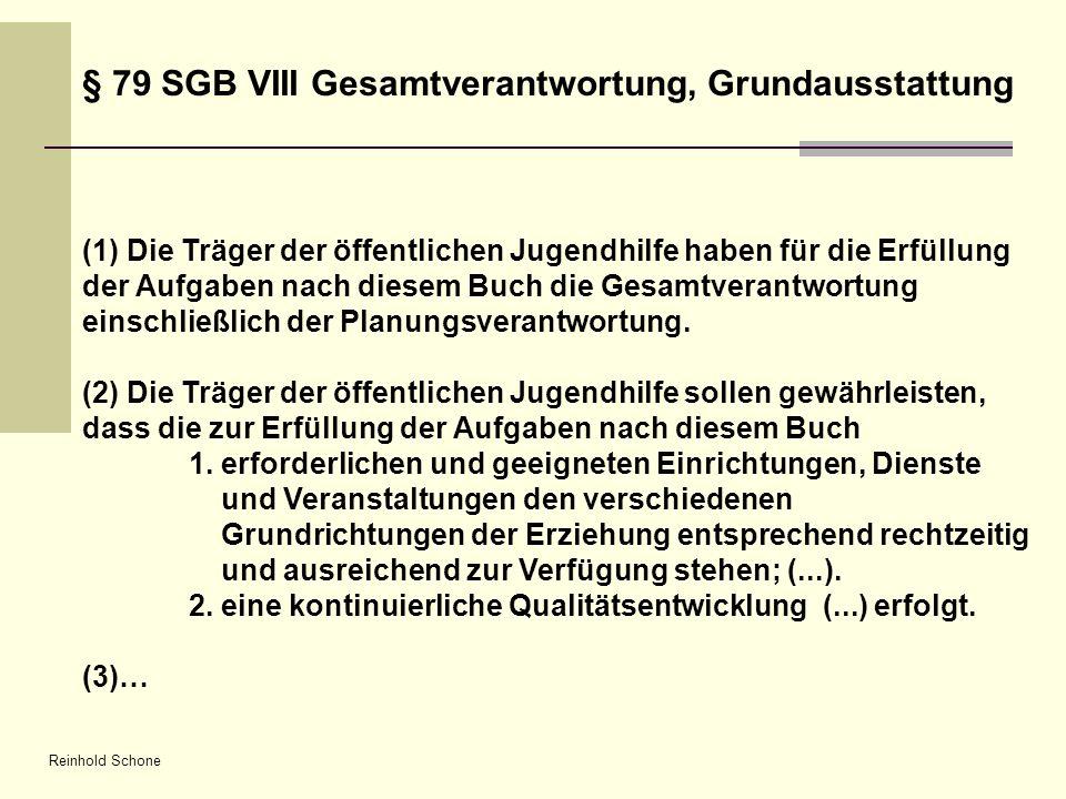 § 79 SGB VIII Gesamtverantwortung, Grundausstattung