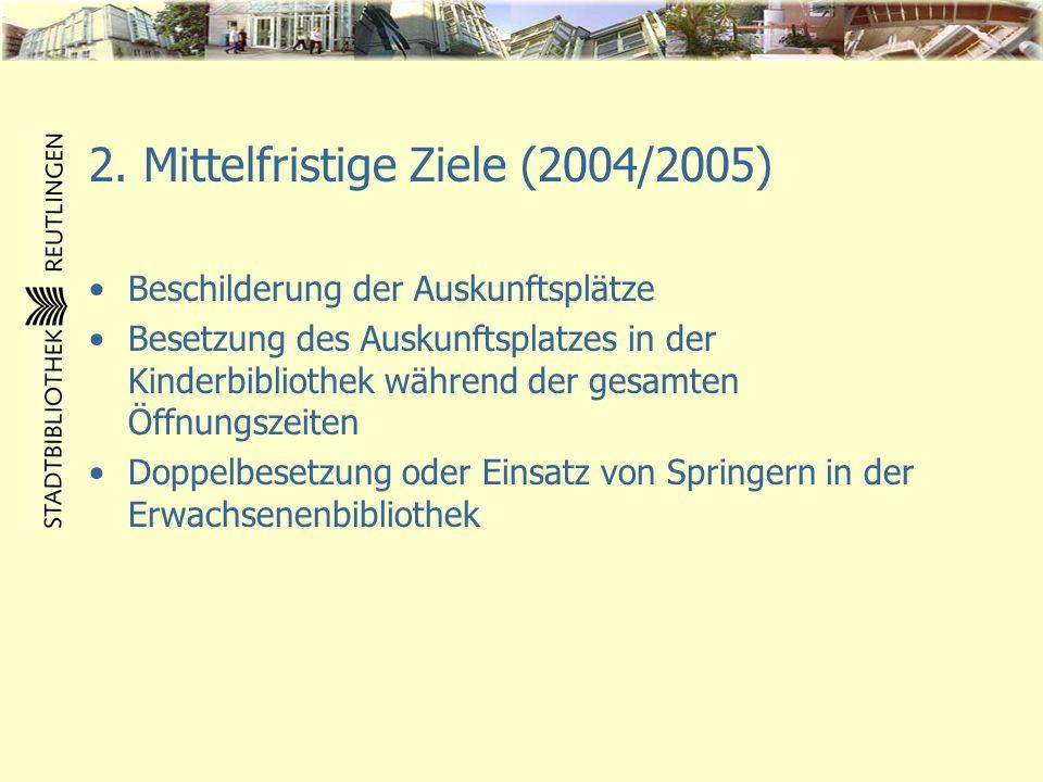 2. Mittelfristige Ziele (2004/2005)