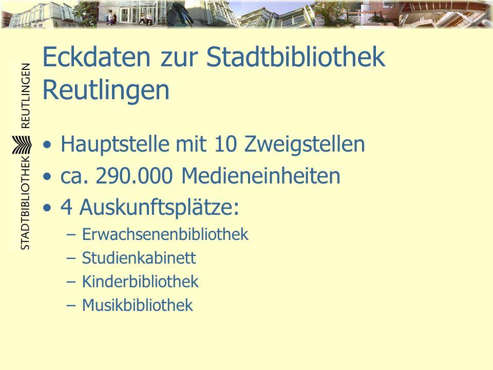 Eckdaten zur Stadtbibliothek Reutlingen