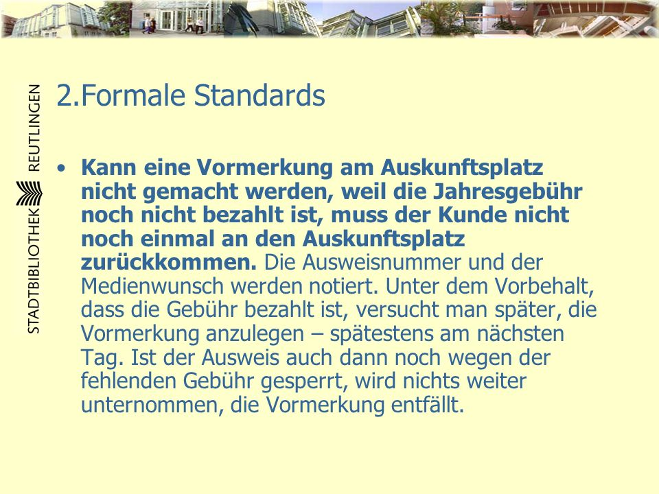 2.Formale Standards