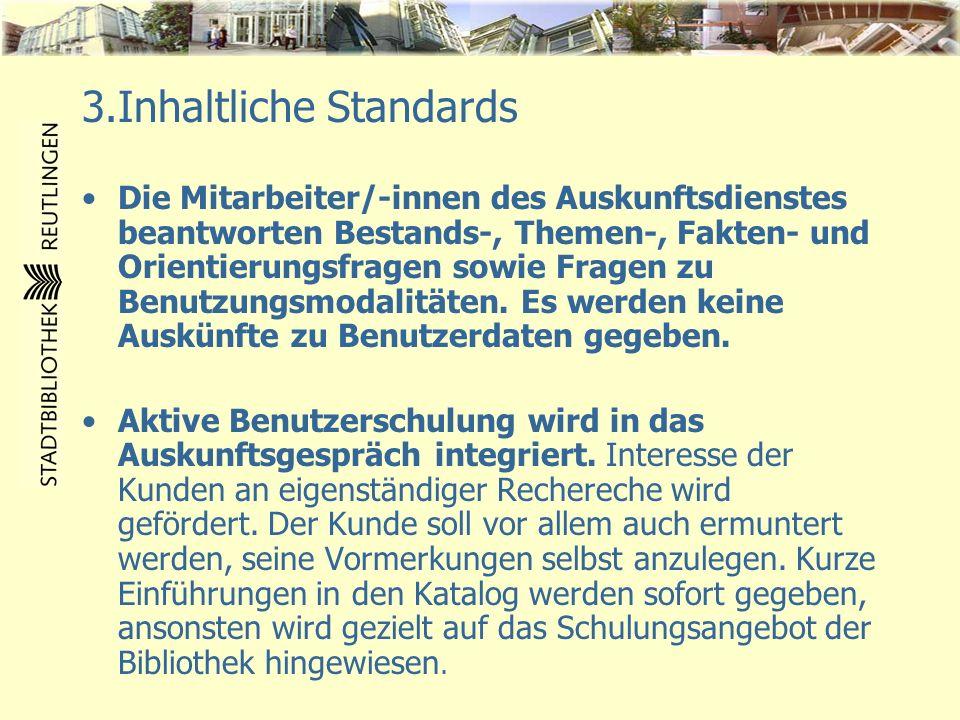3.Inhaltliche Standards