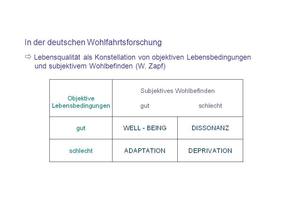 In der deutschen Wohlfahrtsforschung
